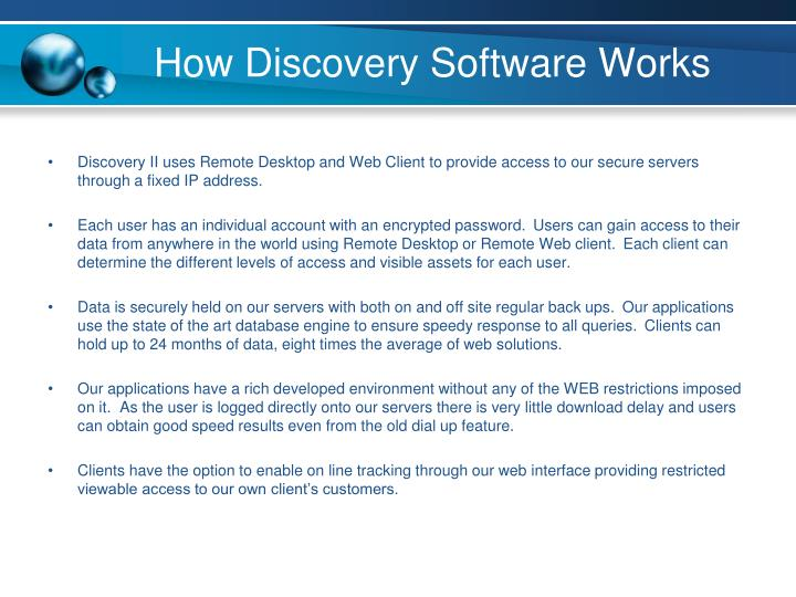 How Discovery Software Works