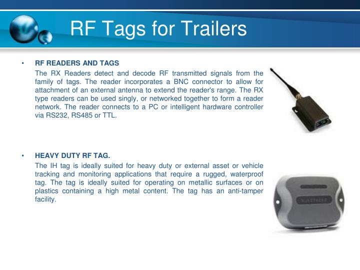 RF Tags for Trailers