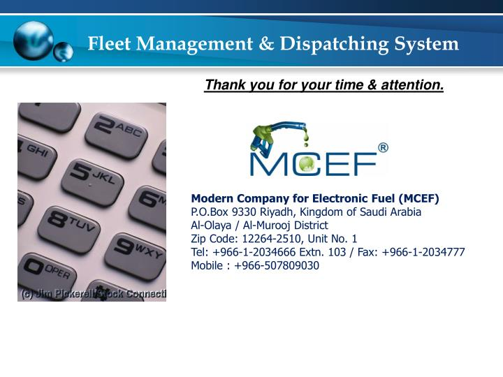 Fleet Management & Dispatching System