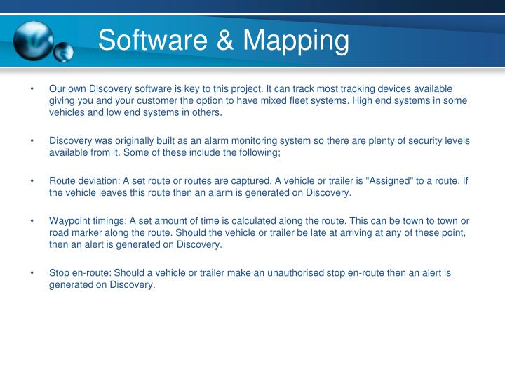 Software & Mapping