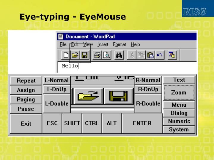 Eye-typing - EyeMouse