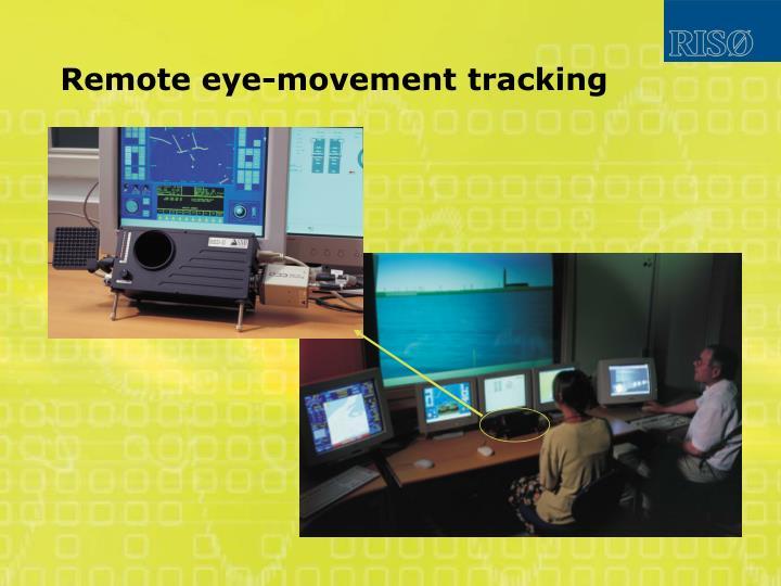 Remote eye-movement tracking