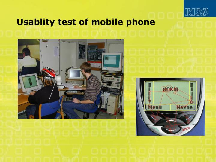Usablity test of mobile phone