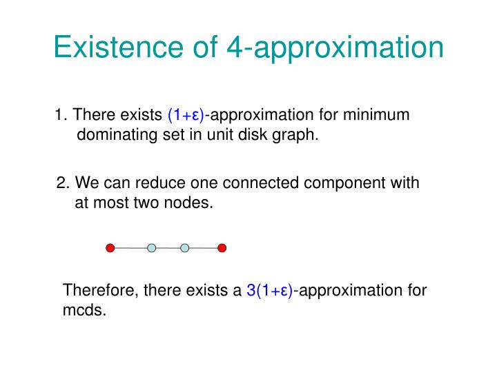 Existence of 4-approximation