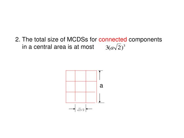 2. The total size of MCDSs for