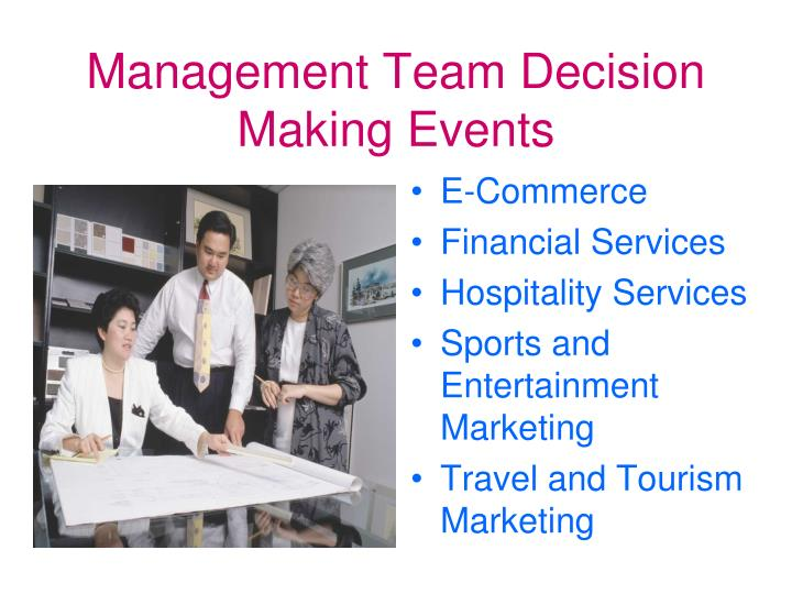 Management Team Decision Making Events