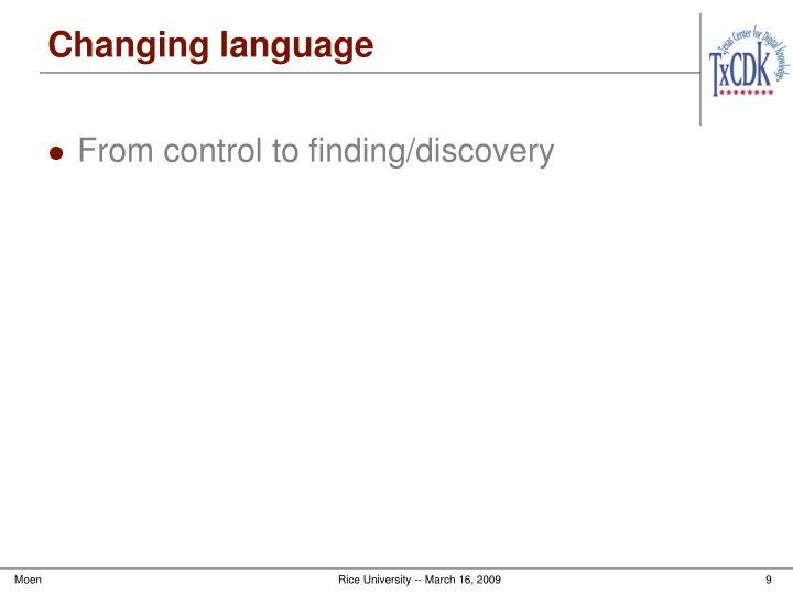 Changing language
