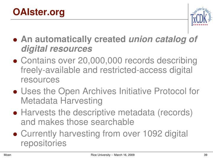 OAIster.org