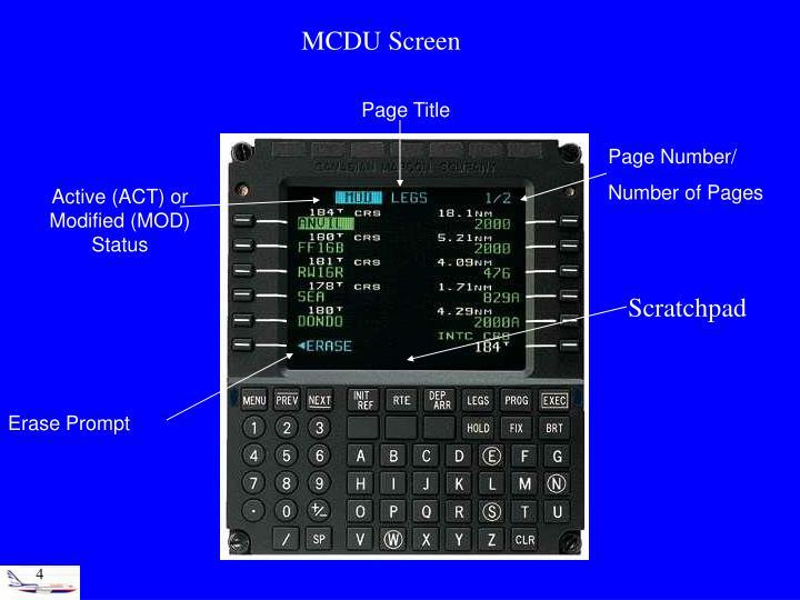 MCDU Screen