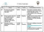 5 school calendars