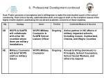 6 professional development continued
