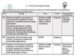 9 post secondary study