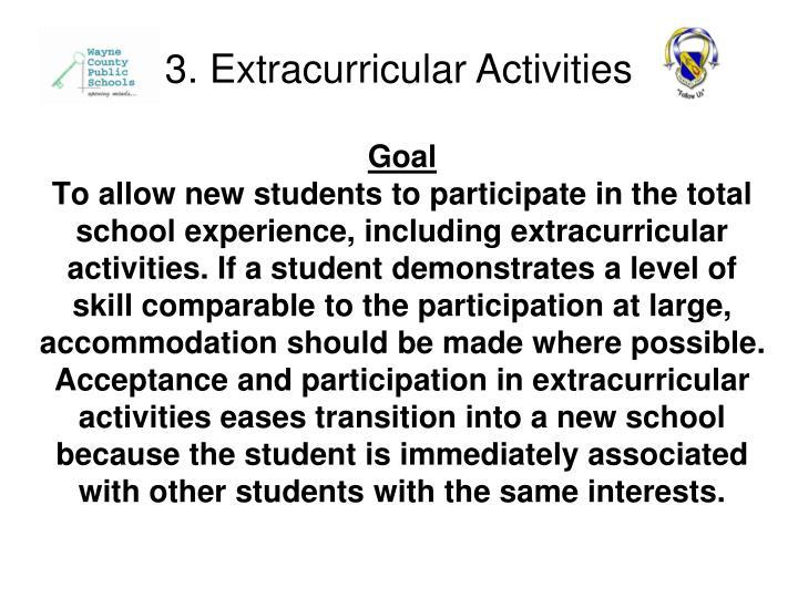 3. Extracurricular Activities
