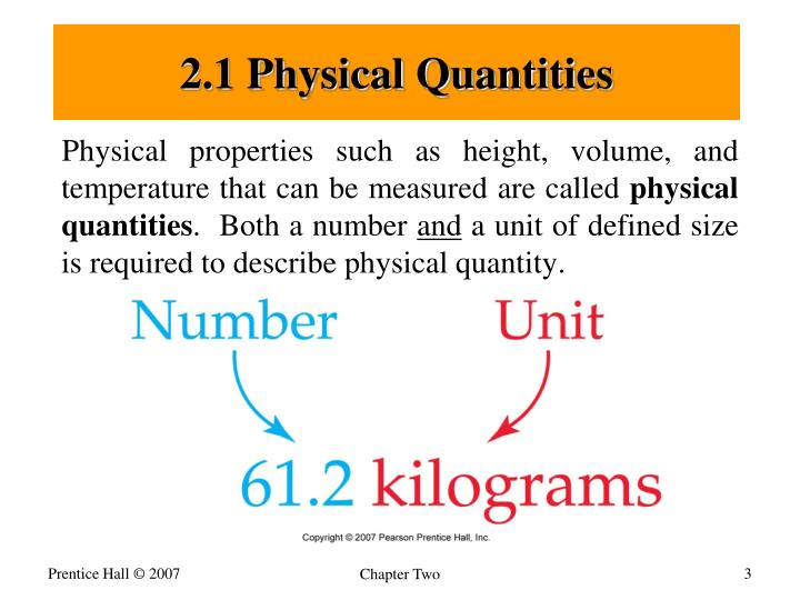 2.1 Physical Quantities