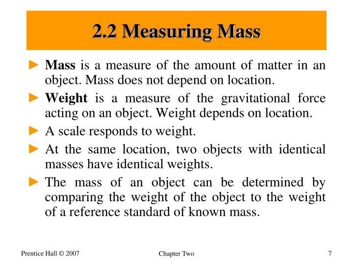 2.2 Measuring Mass
