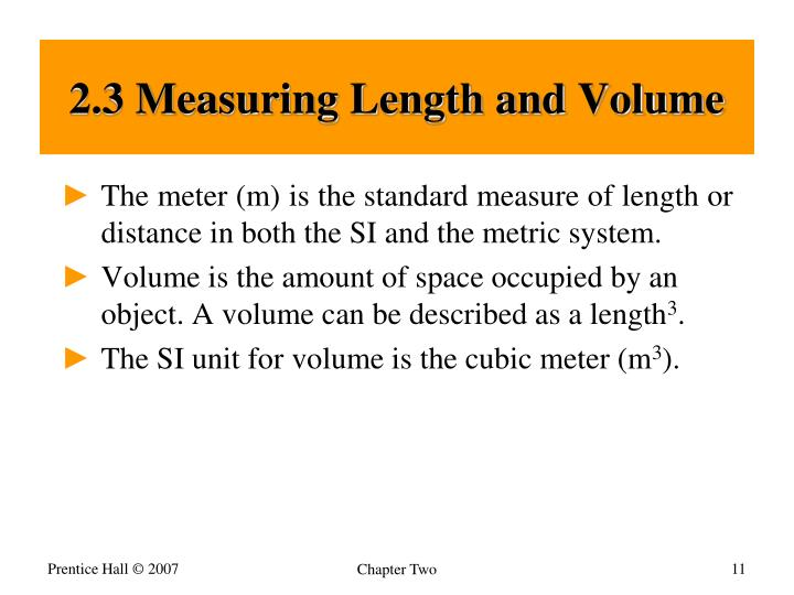 2.3 Measuring Length and Volume