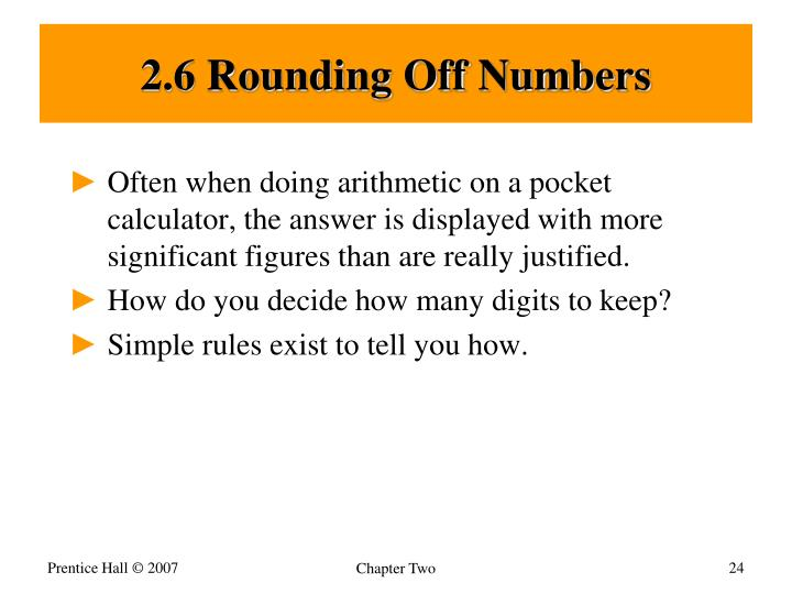 2.6 Rounding Off Numbers