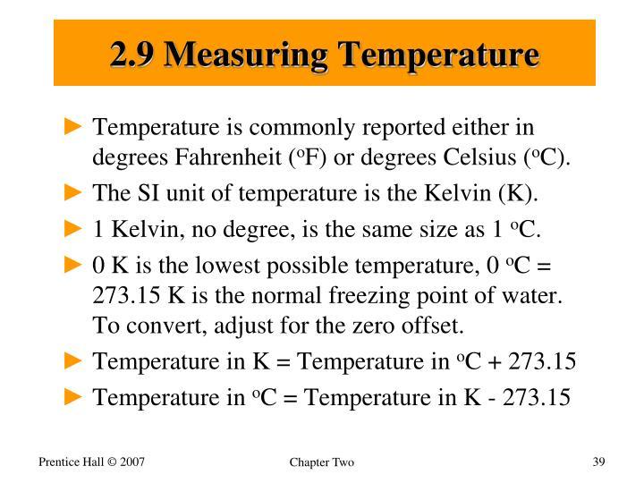 2.9 Measuring Temperature