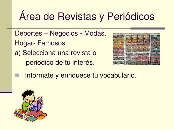 Área de Revistas y Periódicos