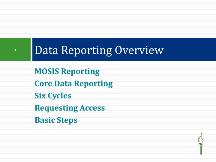 Data Reporting Overview