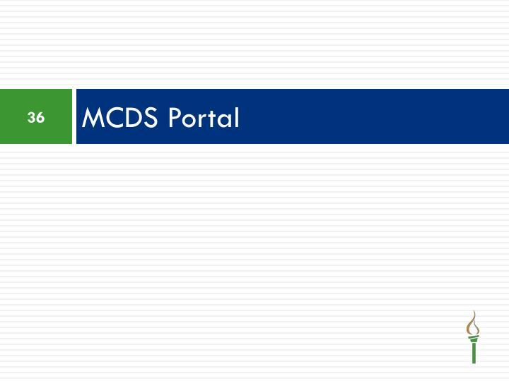 MCDS Portal