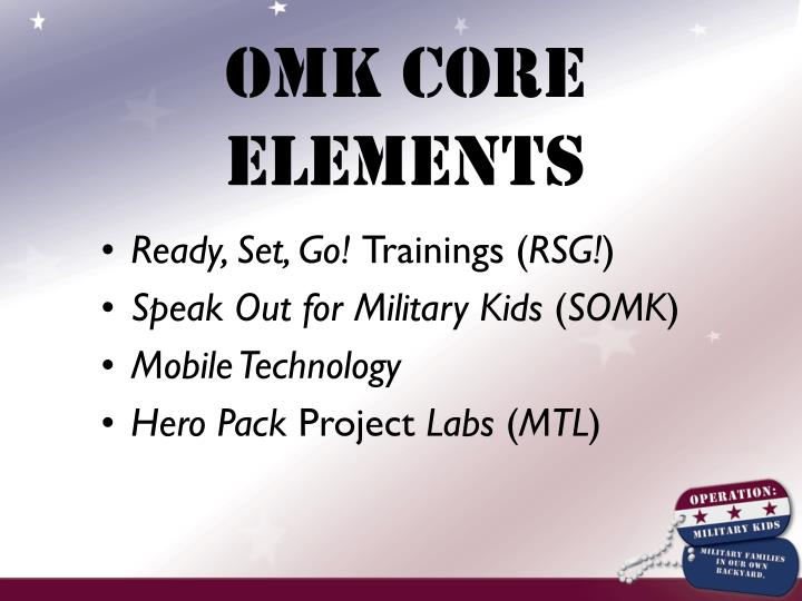 OMK Core Elements