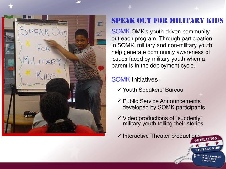 Speak Out For Military Kids