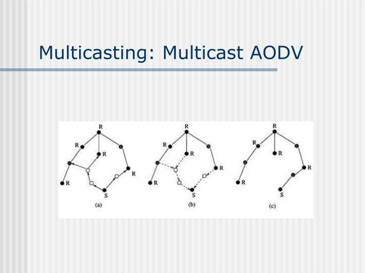 Multicasting: Multicast AODV
