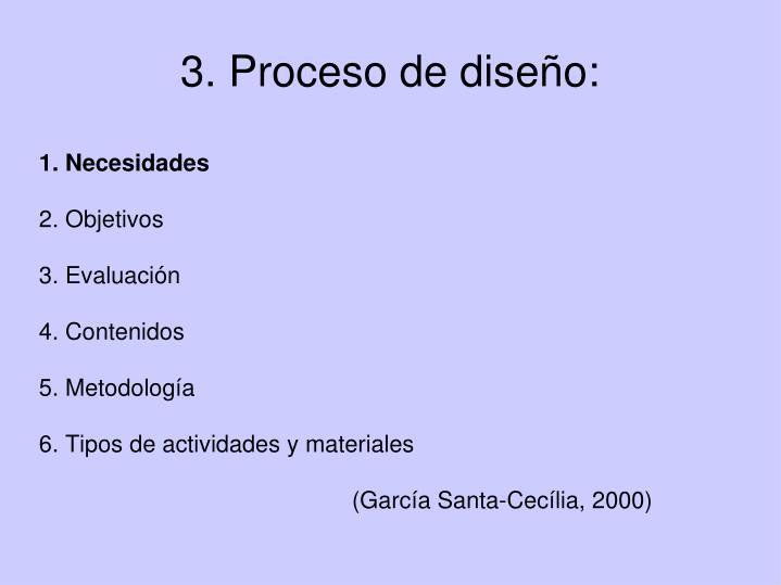 3. Proceso de diseño: