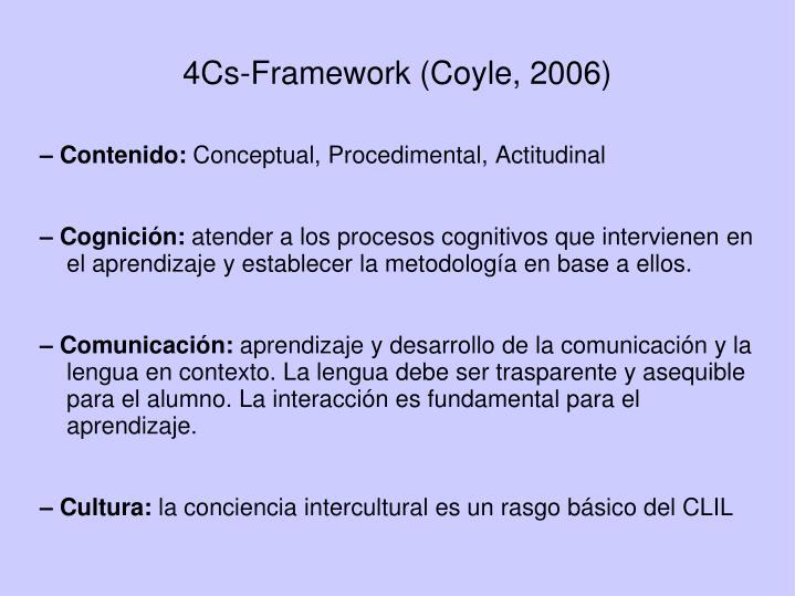 4Cs-Framework (Coyle, 2006)