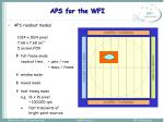 aps for the wfi