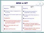 mcds vs sct