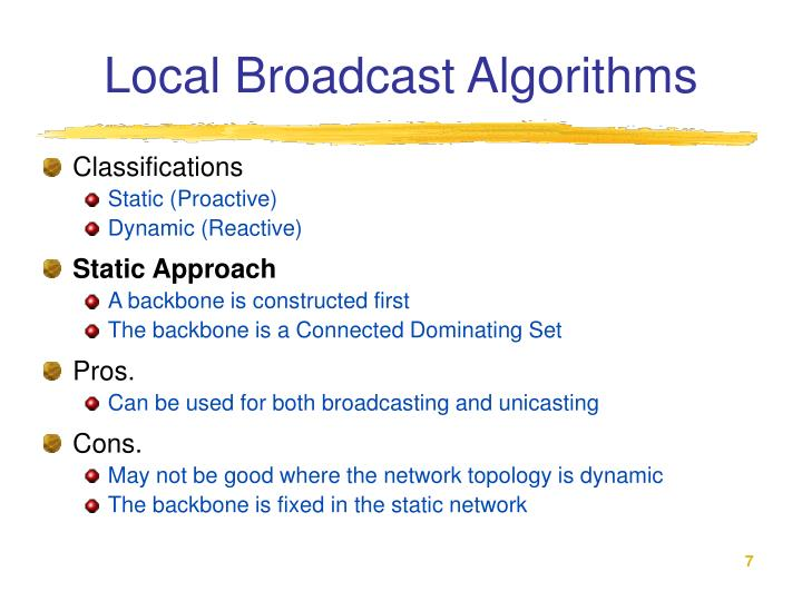 Local Broadcast Algorithms