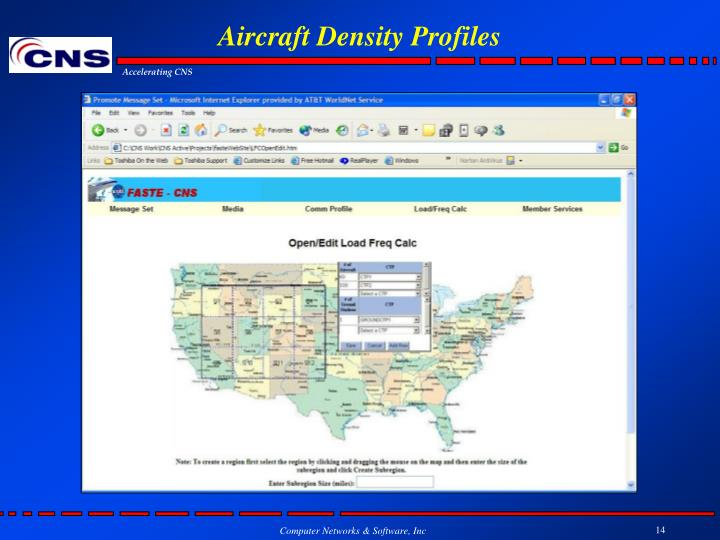 Aircraft Density Profiles