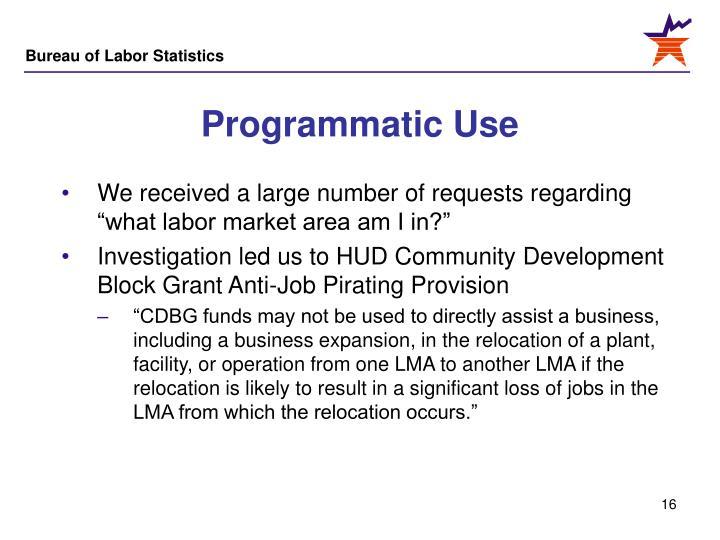 Programmatic Use