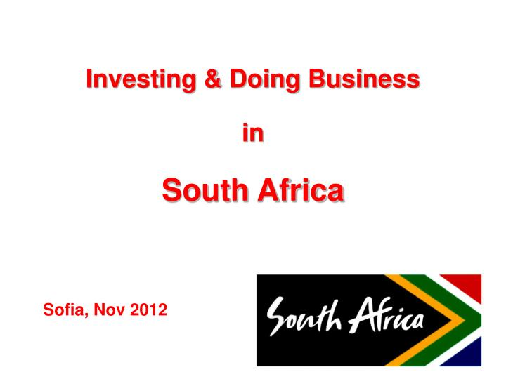 Investing & Doing Business