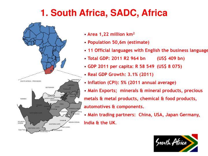 1. South Africa, SADC, Africa