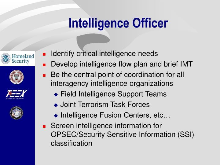 Intelligence Officer