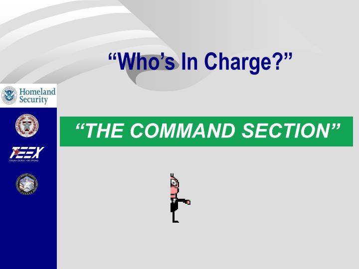 """""""Who's In Charge?"""""""