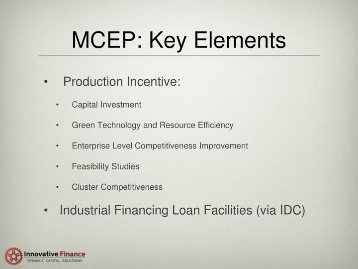 MCEP: Key Elements