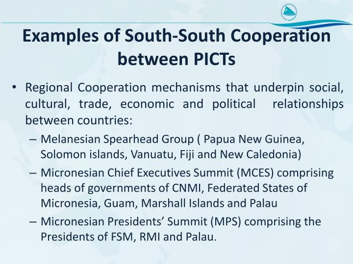 Examples of South-South Cooperation between PICTs