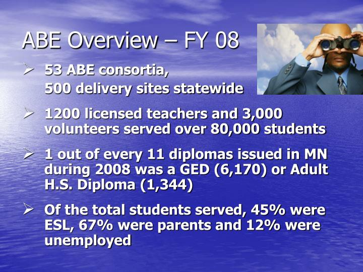 ABE Overview – FY 08