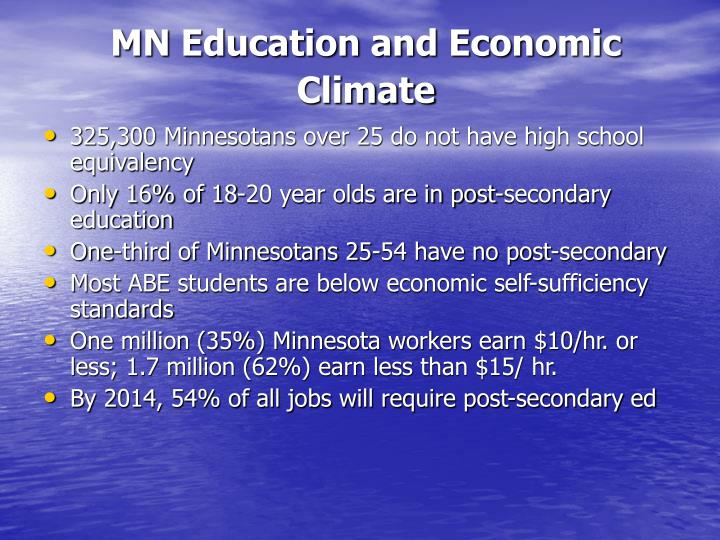 MN Education and Economic Climate