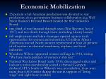 economic mobilization