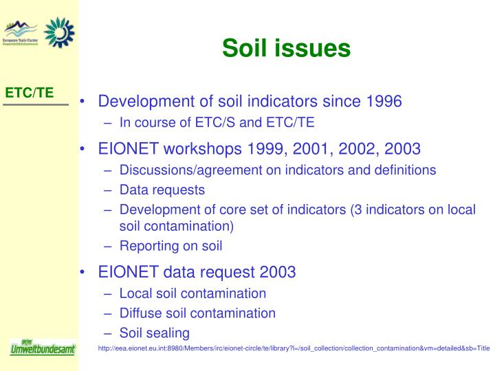 Soil issues
