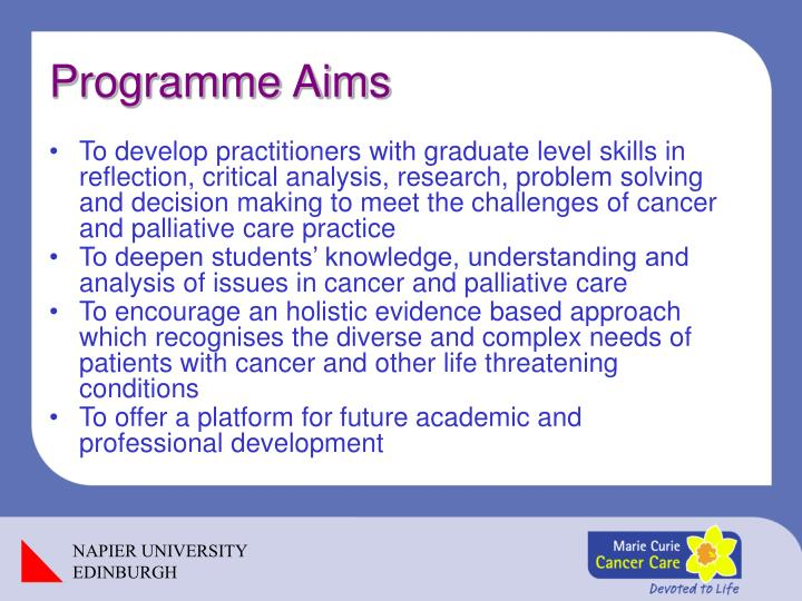 Programme Aims
