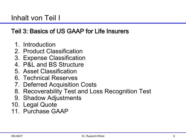 Teil 3: Basics of US GAAP for Life Insurers