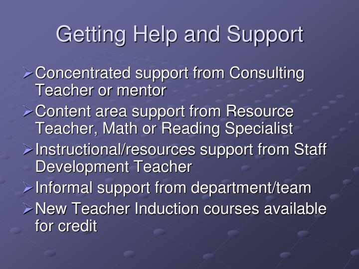 Getting Help and Support