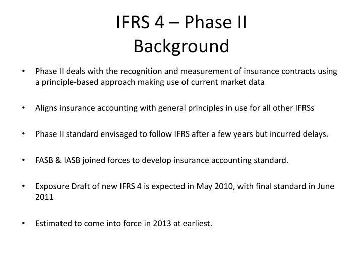 IFRS 4 – Phase II