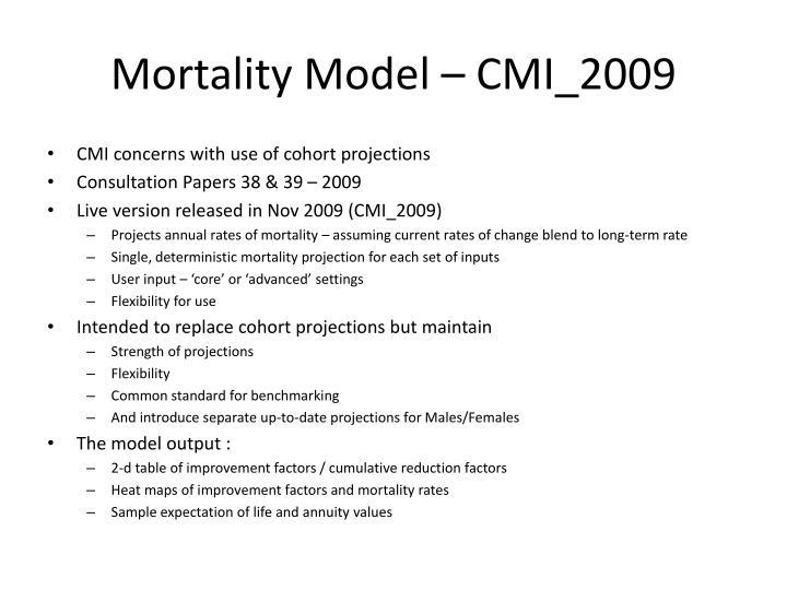 Mortality Model – CMI_2009
